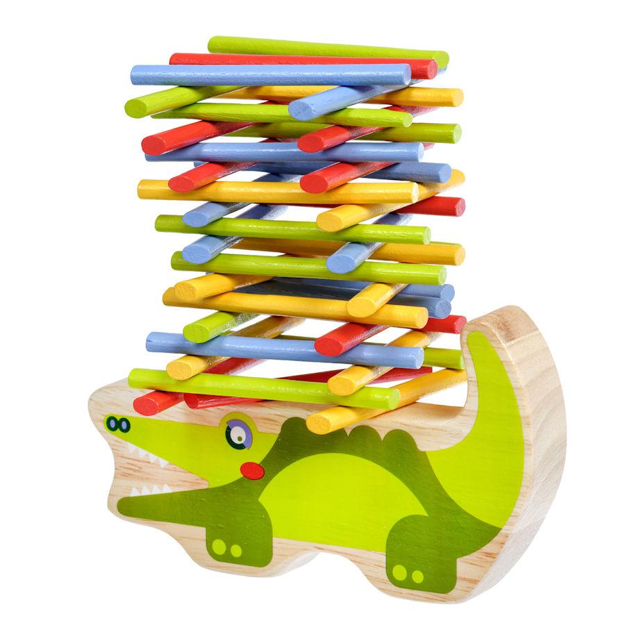 Lucy&Leo Balancer Drevená hračka Krokodíl