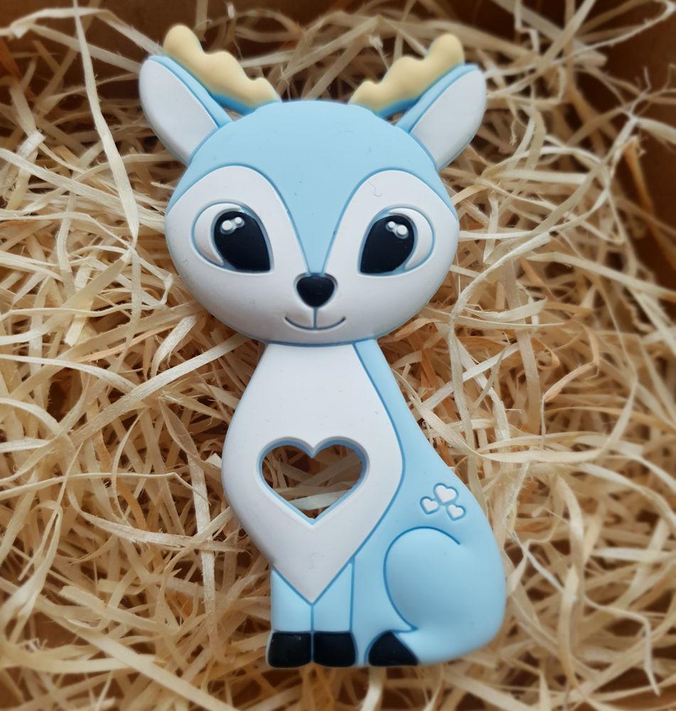 Kidi Love Hrýzatko silikónové BAMBI 9cm - blue