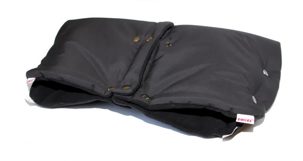Rukávnik DUO 2v1 Softshell / fleece - čierny