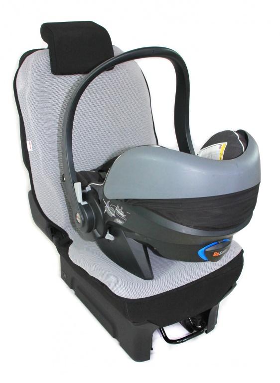 Chránič autosedadla 3D - šedý