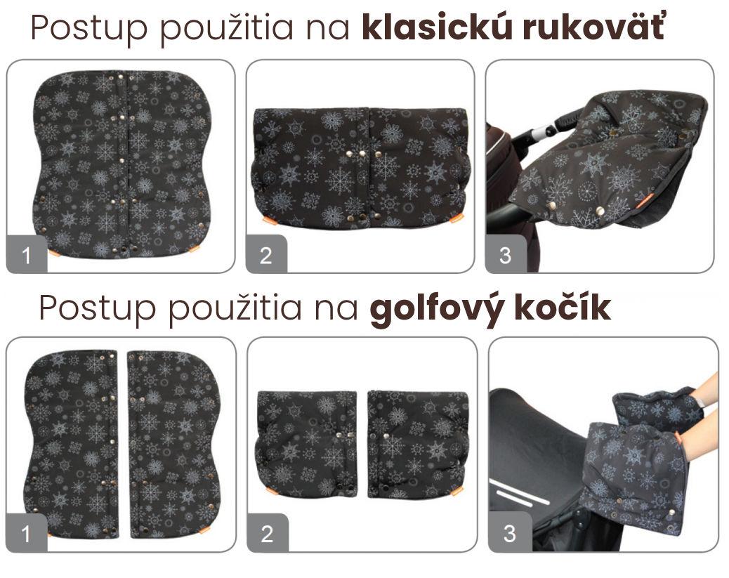 Rukávnik DUO 2v1 VLOČKA - čierny