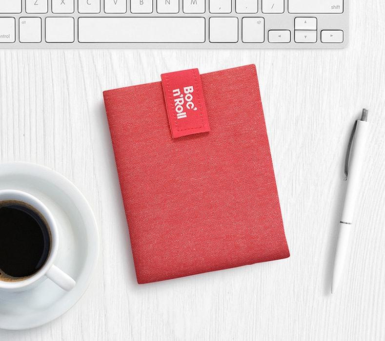 Obal na desiatu Boc'n'Roll, Sandwich bag - Nature Red