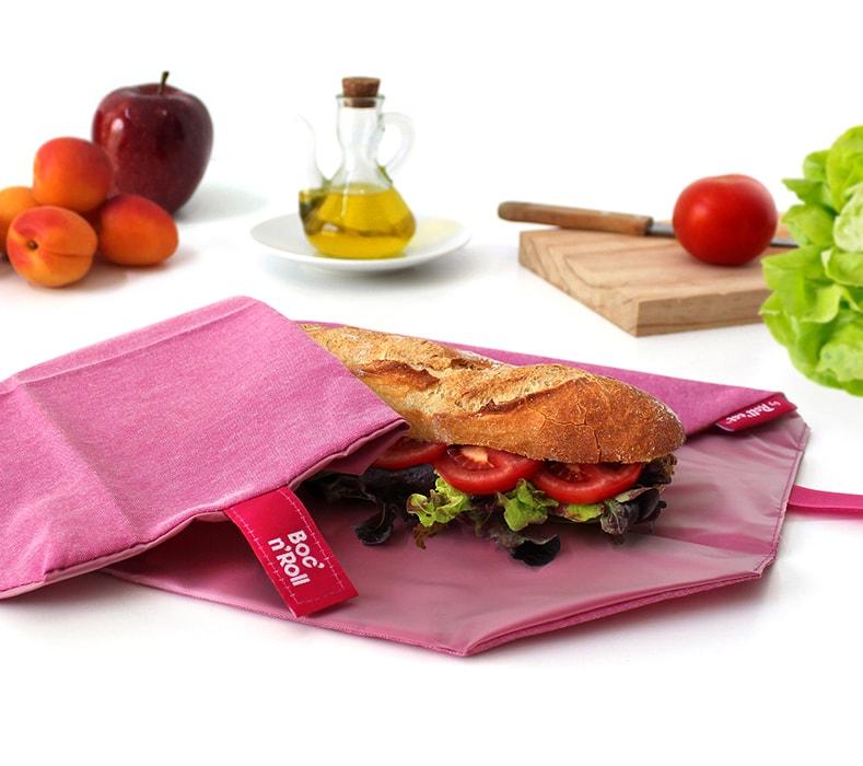 Obal na desiatu Boc'n'Roll, Sandwich bag - Nature Violet