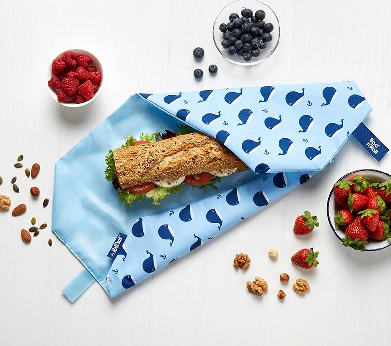 Obal na desiatu Boc'n'Roll, Sandwich bag - Kids Whales