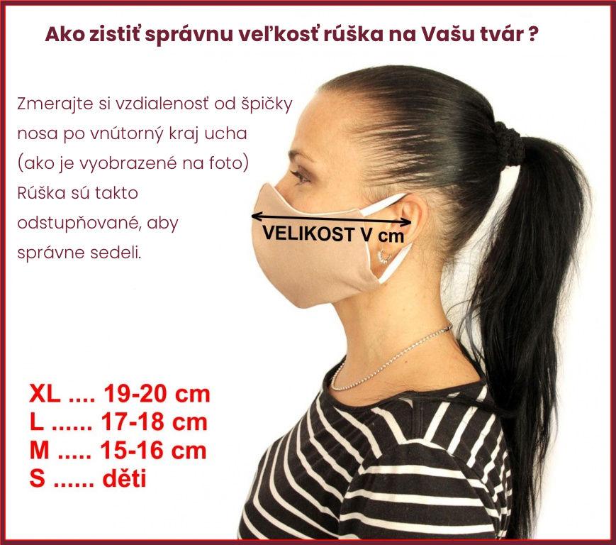 Emitex Rúško detské 7-12rokov, vel.M - Kvet Fuchsia
