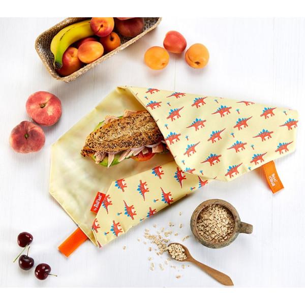Obal na desiatu Boc'n'Roll, Sandwich bag - Kids Dinosaur