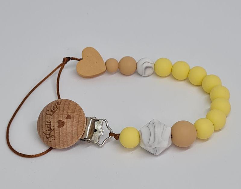Kidi Love Klip na cumlík 2v1 MINI pastel yellow
