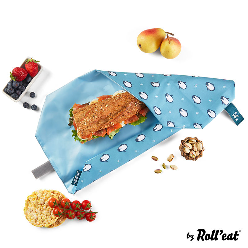 Obal na desiatu Boc'n'Roll, Sandwich bag - Kids Penguin