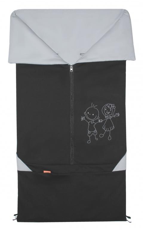 Emitex Fusak 2v1 BARY bavlna/bavlna - čierny / šedý
