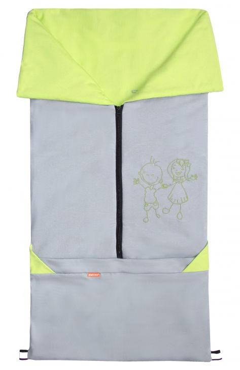 Emitex Fusak 2v1 BARY bavlna/bavlna - šedý / limetka