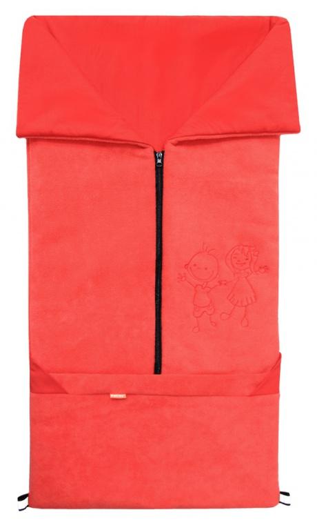 Emitex Fusak 2v1 FANDA fleece/bavlna - červený / červený