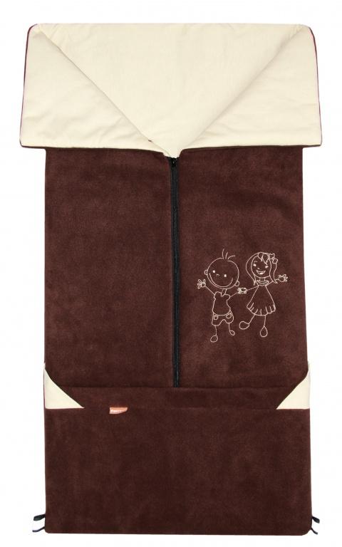 Emitex Fusak 2v1 FANDA fleece/bavlna - hnedý / béžový