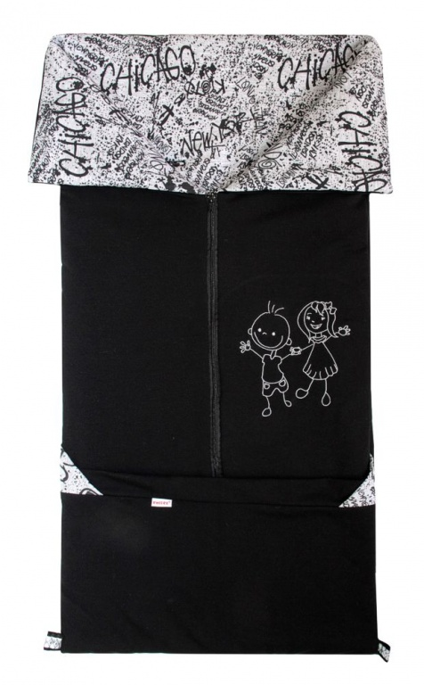Emitex Fusak 2v1 FANDA fleece/bavlna - čierny / GRAFITY