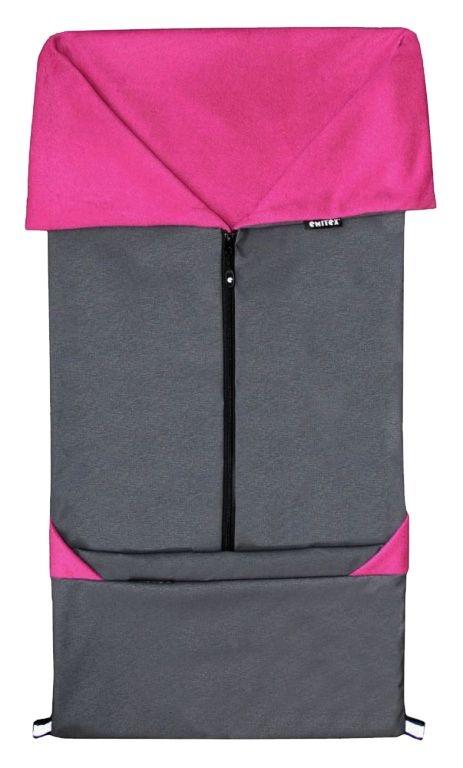 Emitex Fusak 2v1 SEBI softshell/fleece - tm.šedý / fuchsia