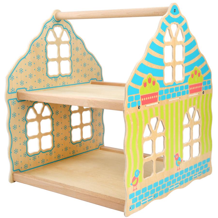 Lucy&Leo Drevený domček DollHouse, dvojposchodový