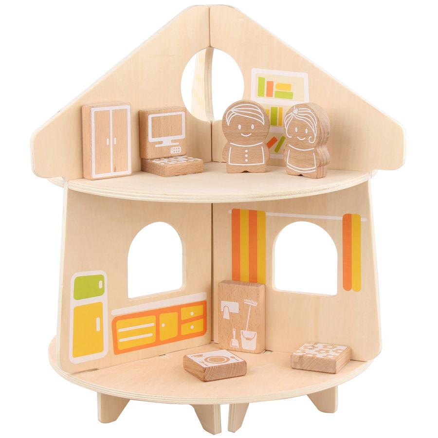 Lucy&Leo Drevená súprava domček Round Doll House