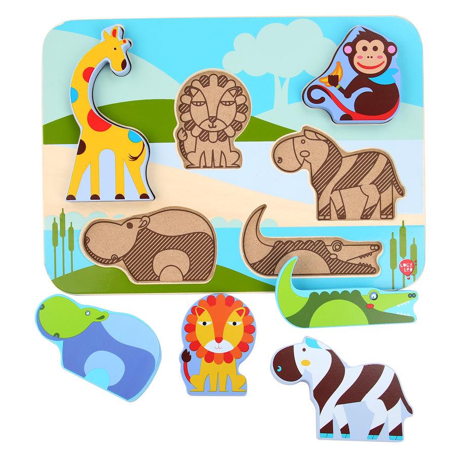 Lucy&Leo Puzzle - Zvieratká zo safari