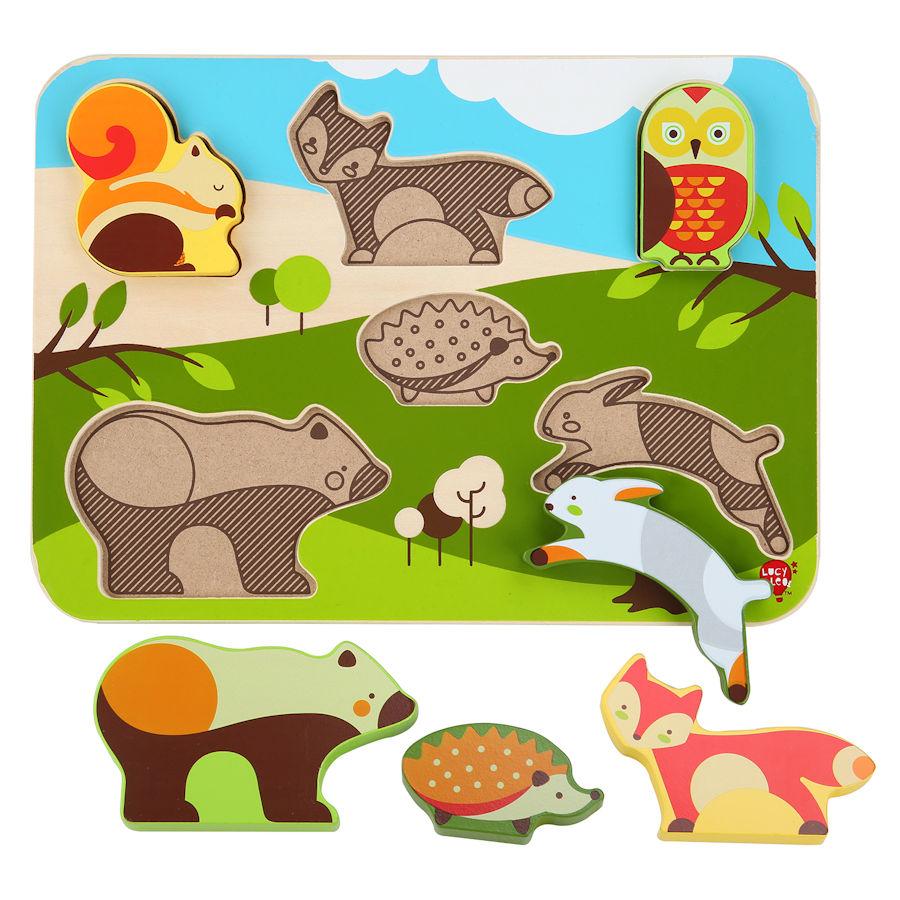 Lucy&Leo Puzzle - Lesné zvieratká