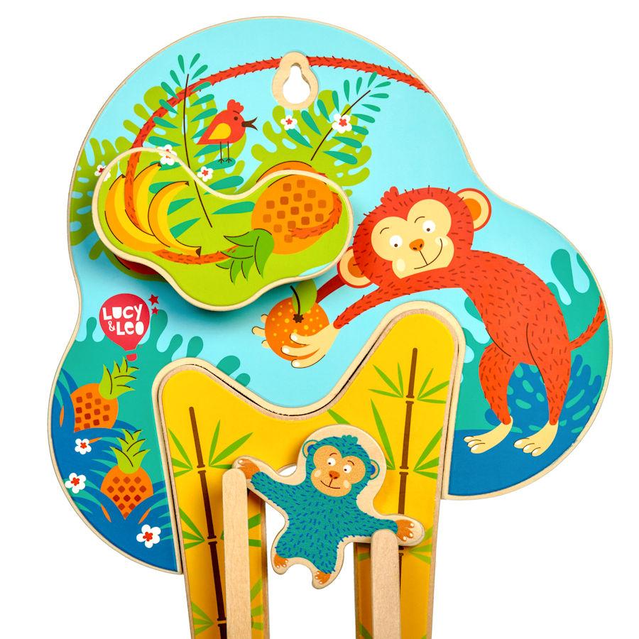 Lucy&Leo Nástenná hračka - Sly Monkey