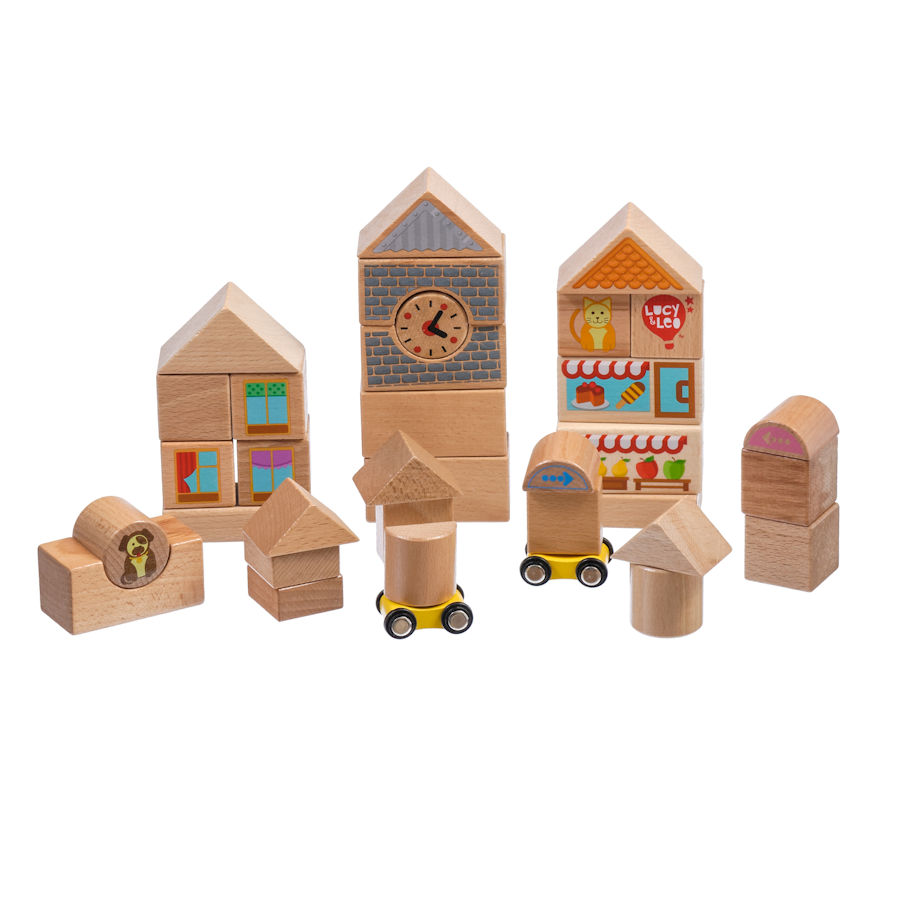 Lucy&Leo Sada drevených kociek Large 32ks
