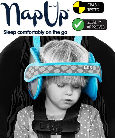 NapUp Hlavová opierka pre pohodlný spánok, MODRÁ