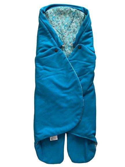 Jarná zavinovačka MELODY - Aqua / Blue flower