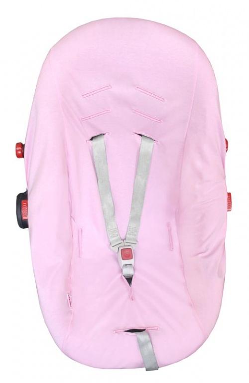 Poťah na autosedačku 0+ BAVLNA - sv.ružový