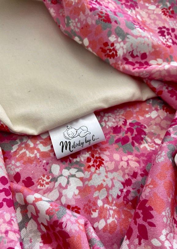 Letná BIO zavinovačka MELODY - Pink flower