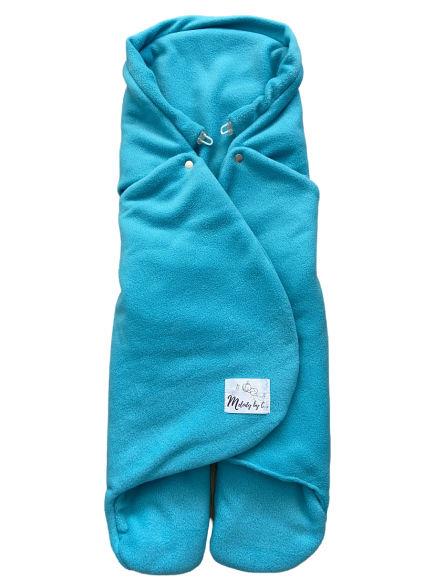 Zimná zavinovačka MELODY fleece - Aqua