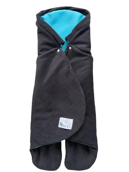 Zimná zavinovačka MELODY fleece - Antracit / aqua