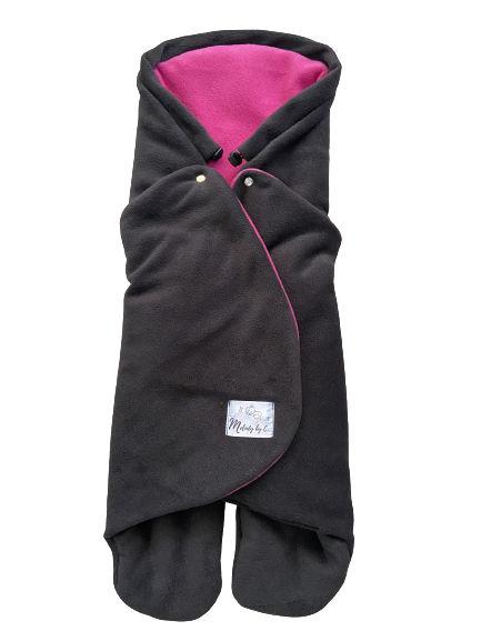 Zimná zavinovačka MELODY fleece - Antracit / fuchsia
