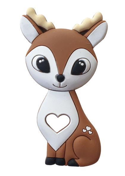 Kidi Love Hrýzatko silikónové BAMBI 9cm - brown