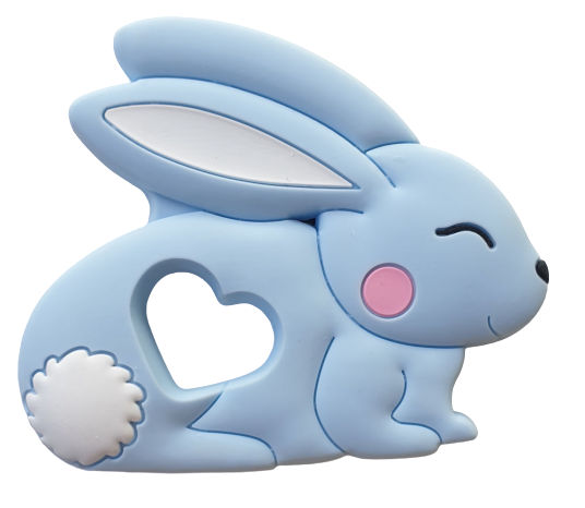 Kidi Love Hrýzatko silikónové BUNNY 8cm - Blue