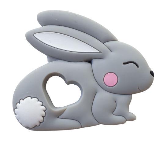 Kidi Love Hrýzatko silikónové BUNNY 8cm - Grey