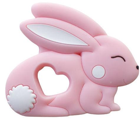 Kidi Love Hrýzatko silikónové BUNNY 8cm - Pink