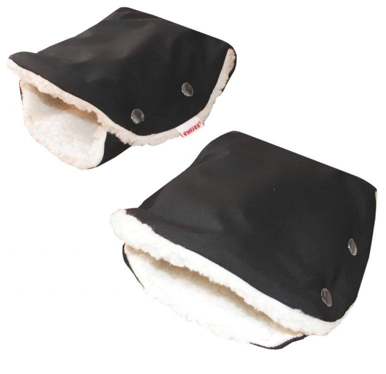 Rukávnik GOLF Softshell kožuch - čierny