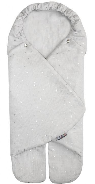 Emitex Zavinovačka MUSE - svetlo šedá, strieborné hviezdičky