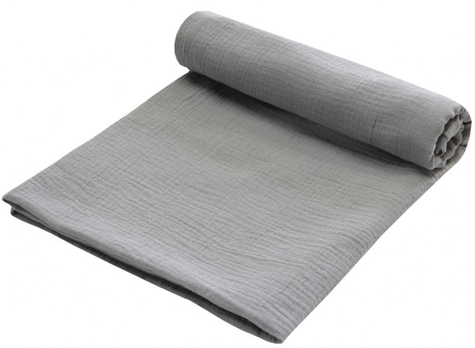 Emitex Zavinovacia deka MUŠELÍN 120x120cm - tmavo šedá