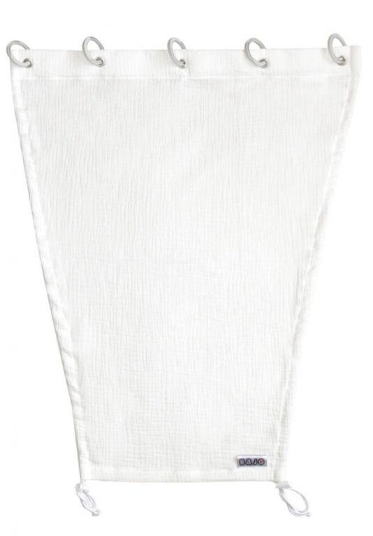 Emitex Slnečná clona MUŠELÍN - biela
