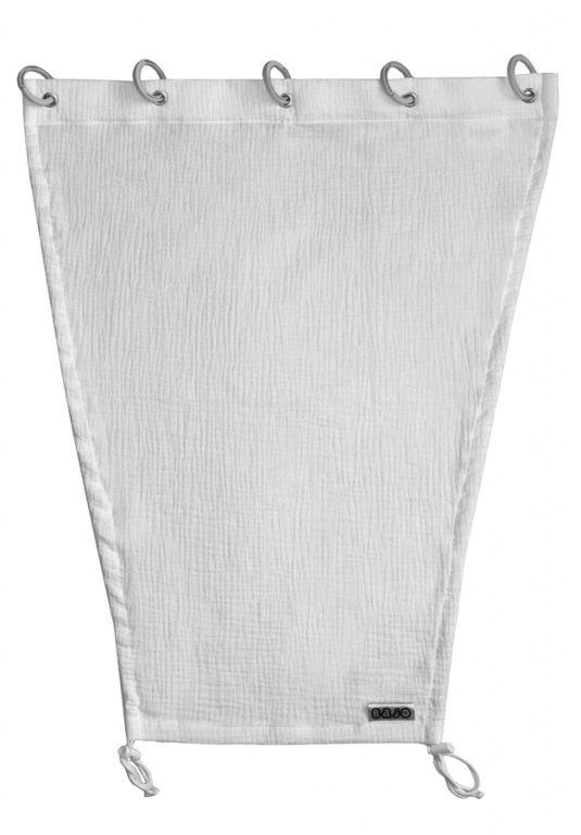 Emitex Slnečná clona MUŠELÍN - svetlo šedá