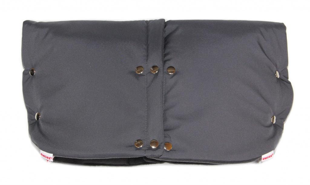 Rukávnik DUO 2v1 Softshell / fleece - tm.šedý / sv.šedý